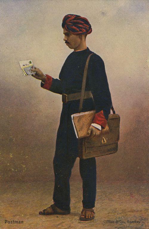 Indischer Briefträger - von http://www.zeno.org - Akquise mit Briefen und Account-Based Marketing