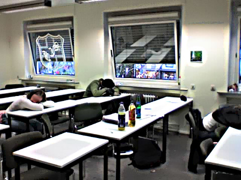 Schlafende Schüler